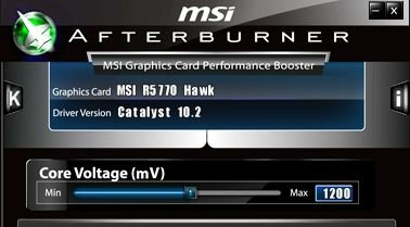 MSI Afterburner voltage monitoring