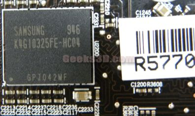 MSI R5770 Hawk - memory chip detail