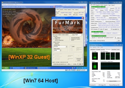 VirtualBox 3.1.4 - FurMark 1.8.0 test