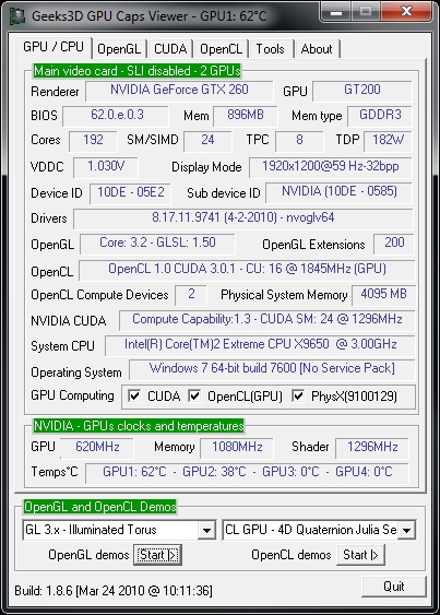 NVIDIA ForceWare 197.41 and GPU Caps Viewer