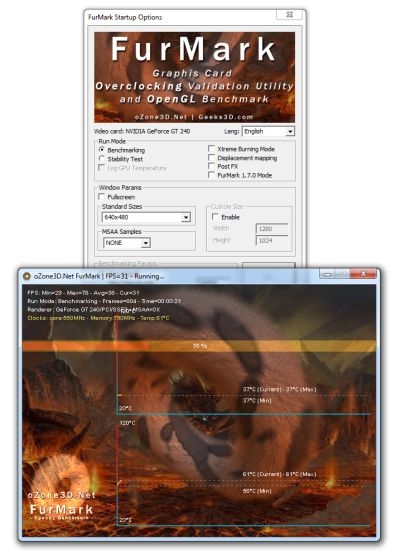 FurMark 1.8.2 - Graphics card stress test tool