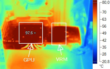 GeForce GTX 480 infrared imaging - under heavy load