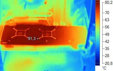 Radeon HD 5870 infrared imaging - under heavy load