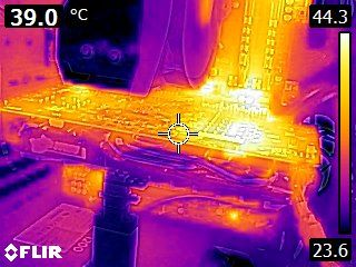 MSI Radeon RX 470 Gaming X - Thermal imaging at idle