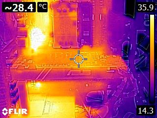 ASUS GeForce GTX 1080 TURBO - Thermal imaging - idle state