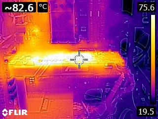 ASUS GeForce GTX 1080 TURBO - Thermal imaging - stress test