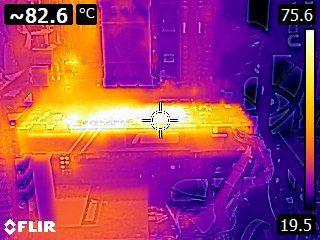 ASUS GeForce GTX 1080 TURBO - Thermal imaging - stress test