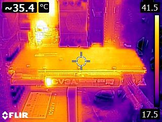 EVGA GeForce GTX 1070 FTW - Thermal imaging