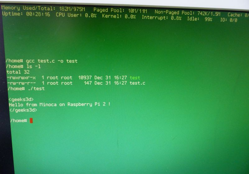 Minoca OS on Raspberry Pi 2