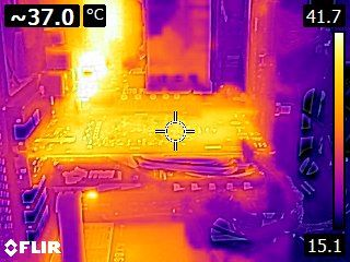 MSI GeForce GTX 1050 Ti Gaming 4GB - Thermal imaging - idle state
