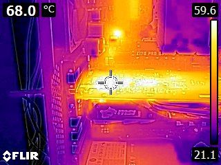 MSI GeForce GTX 1050 Ti Gaming 4GB - Thermal imaging - stress state