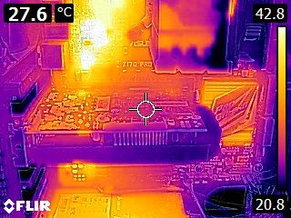 PNY GeForce GTX 1050 - Thermal imaging - idle state