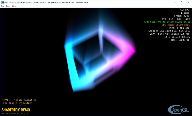 Shadertoy Multipass Demos Ported to GeeXLab