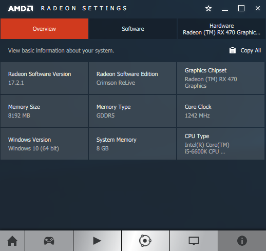 AMD Crimson ReLive 17.2.1 - software information