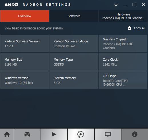 AMD Crimson ReLive 17.2.1 - software information
