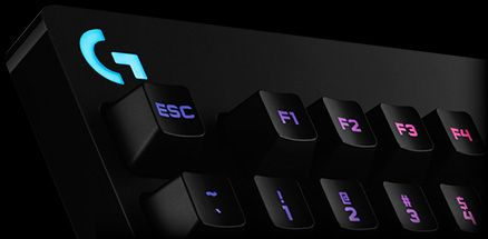 Logitech G810 Orion Spectrum keyboard