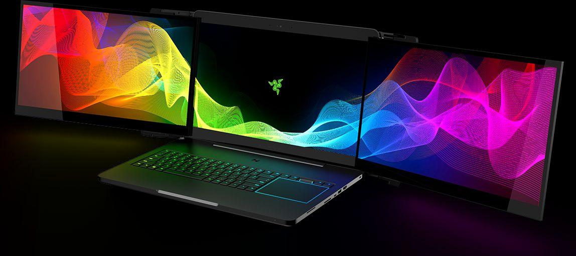 Razer Project Valerie: triple display gaming laptop