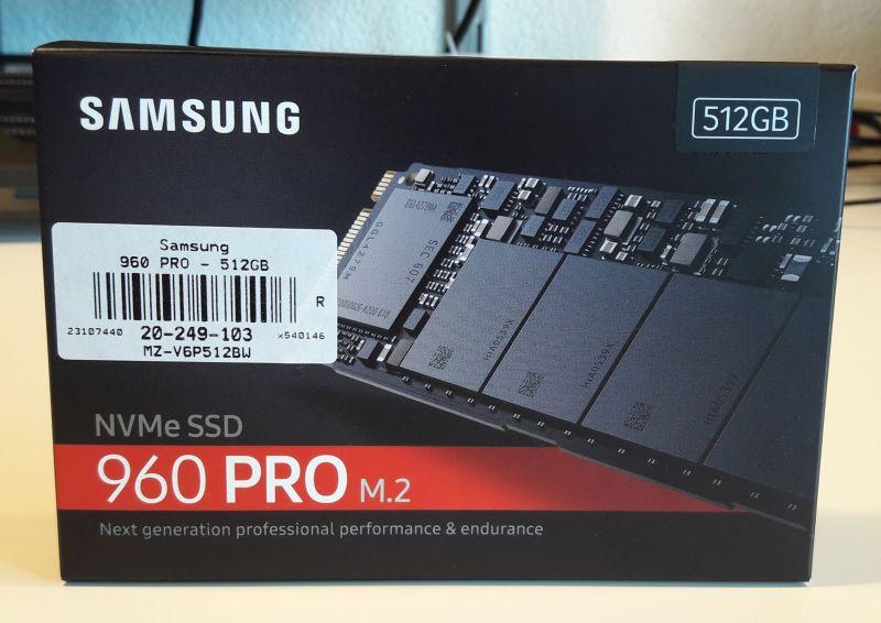 Samsung NVMe SSD 960 PRO M.2 512GB