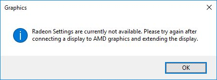 AMD Crimson with disabled graphics card
