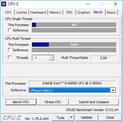 CPU-Z CPU benchmark