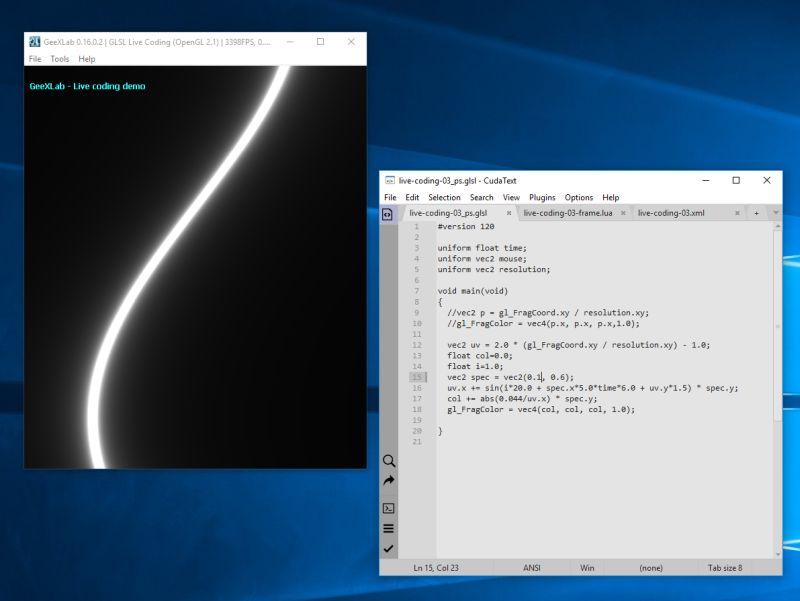 GeeXLab - GLSL shader live coding