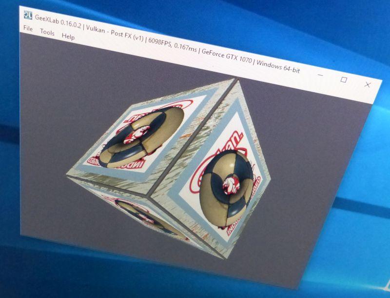 GeeXLab render target demo - Vulkan API