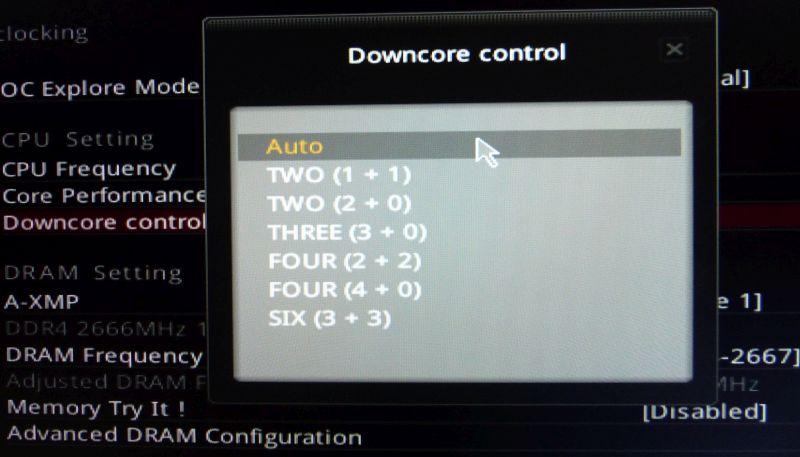 AMD Ryzen Downcore Control | Geeks3D