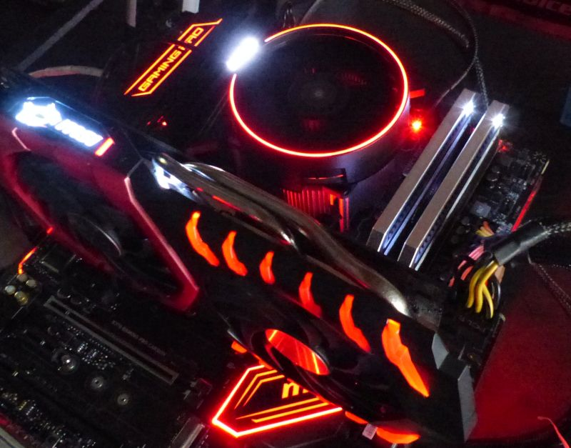 Geeks3D testbed: MSI X370 Gaming Pro Carbon + AMD Ryzen 7 1700