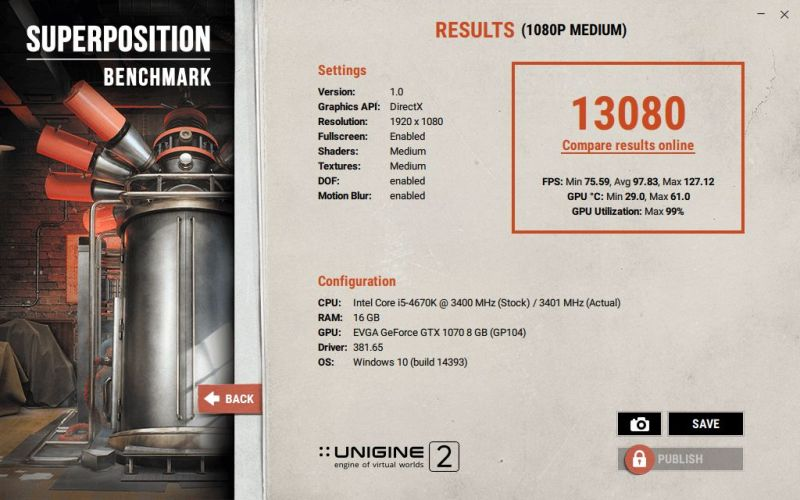 Unigine Superposition GPU Benchmark