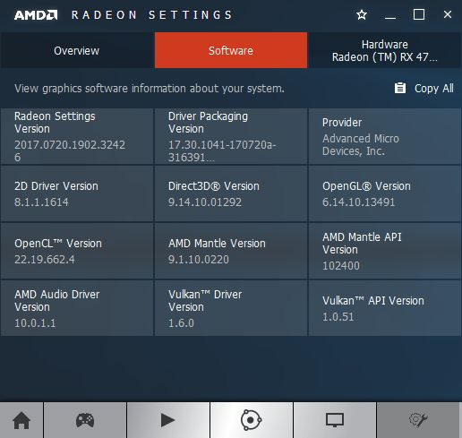 AMD Crimson 17.7.2 software information