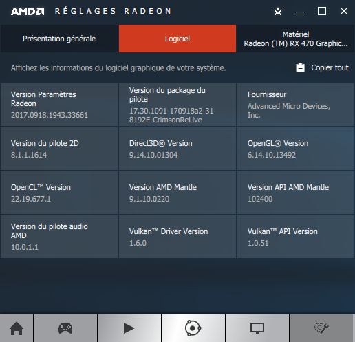 AMD Crimson 17.9.2 software information