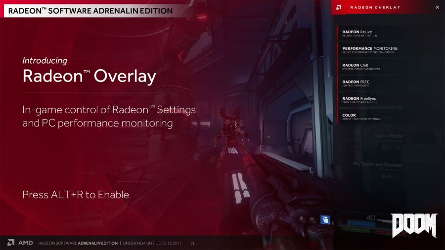 AMD Radeon Software Adrenalin - Overlay