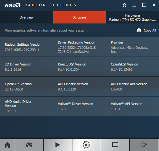 AMD Crimson 17.10.1 software information