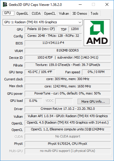 AMD Crimson 17.10.2 - GPU Caps Viewer
