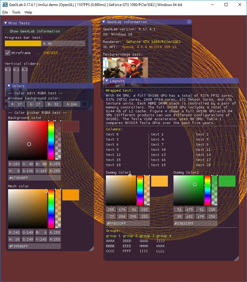 GeeXLab and ImGui new features