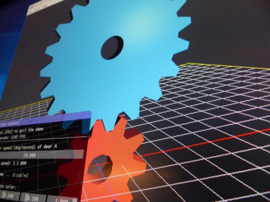 GeeXLab - Mesh Gear demo