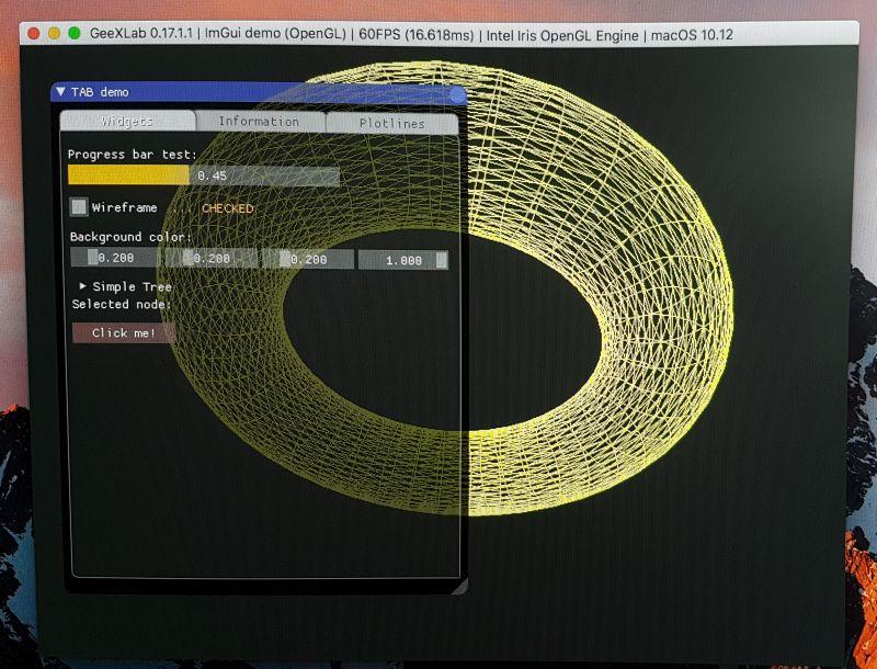 GeeXLab + ImGui tabs on macOS