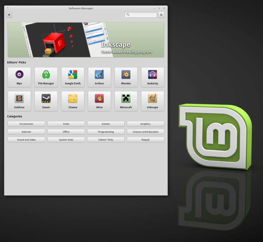 Linux Mint 18.3 - new software manager