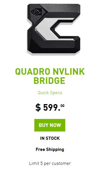 NVIDIA NVLink Bridge