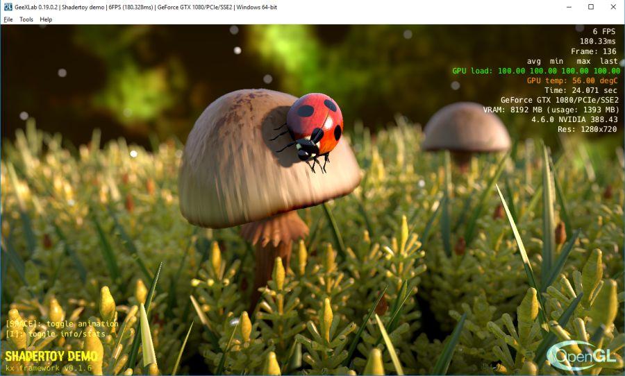 Shadertoy 2 GeeXLab: Ladybug