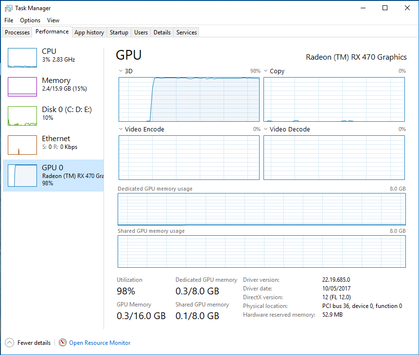 Windows 10 Fall Creators Update: GPU Monitoring in Task Manager - AMD Radeon