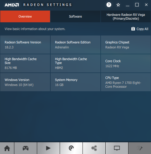 AMD Radeon Software Adrenalin software information