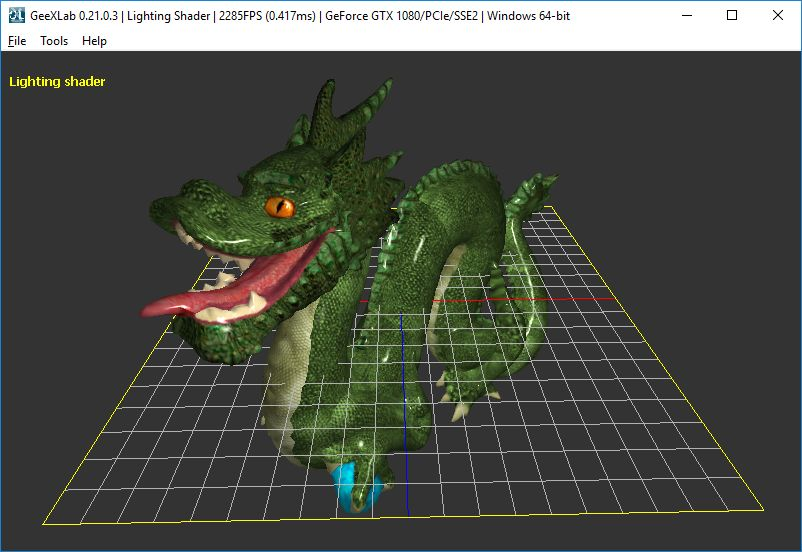 GeeXLab Assimp 3D object loader