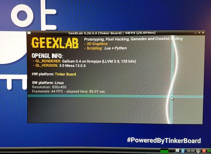 ASUS_Tinker Board - GeeXLab - OpenGL 3