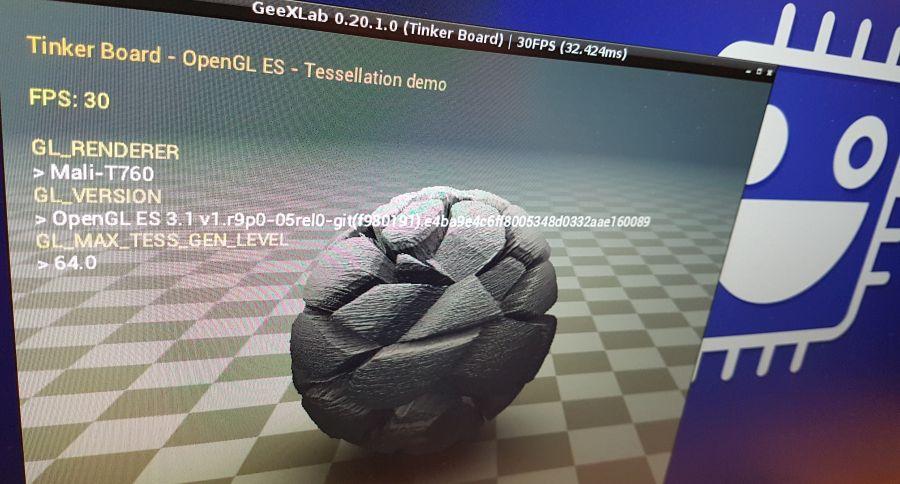 OpenGL ES 3.1 tessellation demo on the Tinker Board