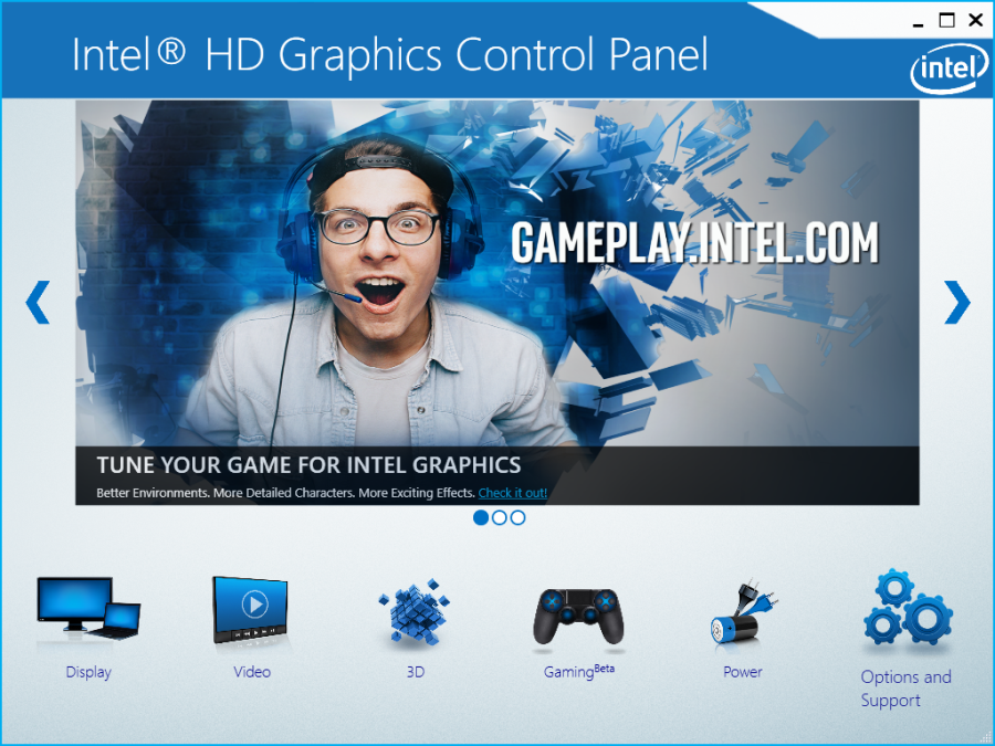 Intel HD Graphics driver control panel