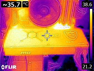MSI Radeon RX Vega 56 AIR BOOST 8GB OC - Thermal imaging - idle