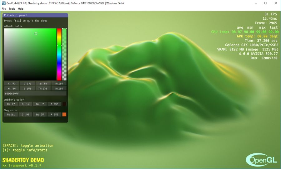 Shadertoy to GeeXLab - Goo