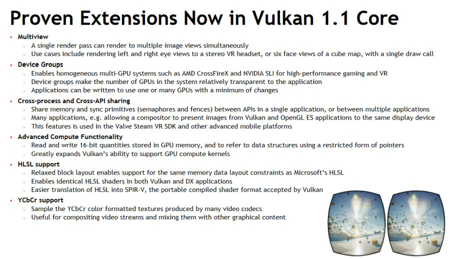 Vulkan 1.1 new features