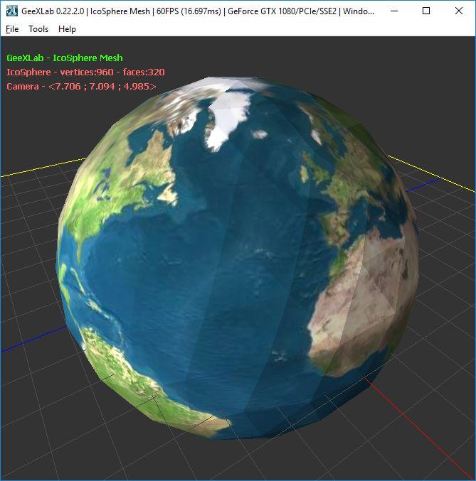 GeeXLab - Ico Sphere